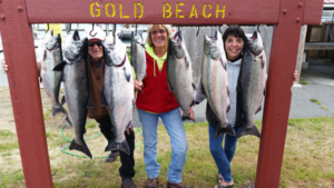 Gold Beach Catch with Happy Clients!
